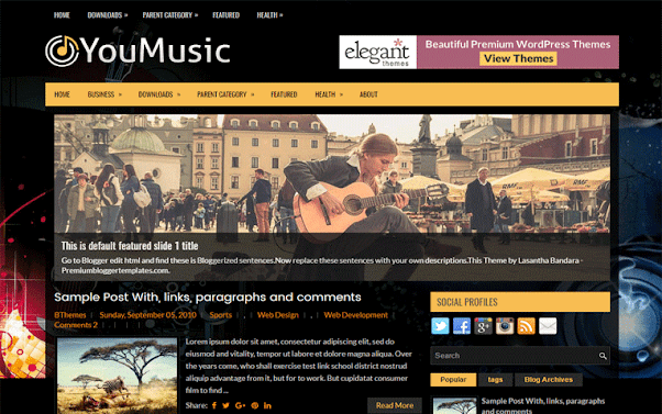 YouMusic Free Blogger Template