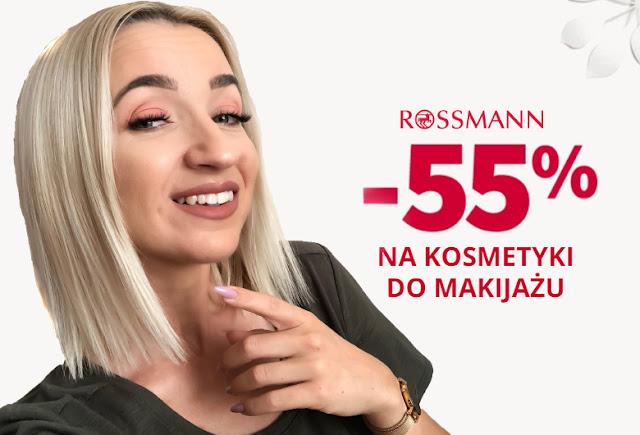 Promocja Rossmann 55% na kosmetyki do makijażu