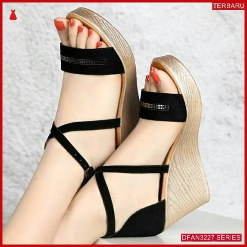DFAN3227S38 Sepatu Ks 08 Wedges Wanita Cantik Wedges BMGShop