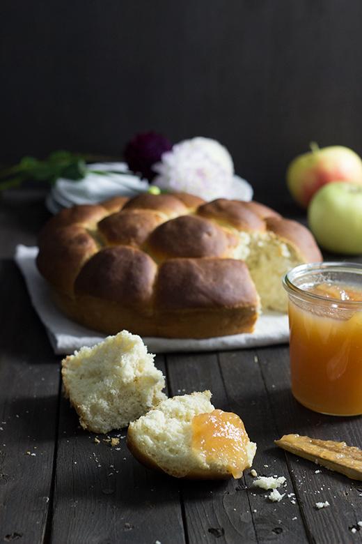 Rezept für Apfelbutter, ein würziger Apfelaufstrich mit Zimt. Holunderweg18