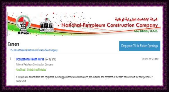 NPCC, Abudhabi - Occupational Health Nurse E - Recruitment