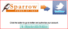 sparrow to twitter connection