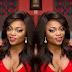 Funke Akindele flaunts cleavage in new makeup photos