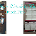 Large Red and White Hutch Furniture Flip