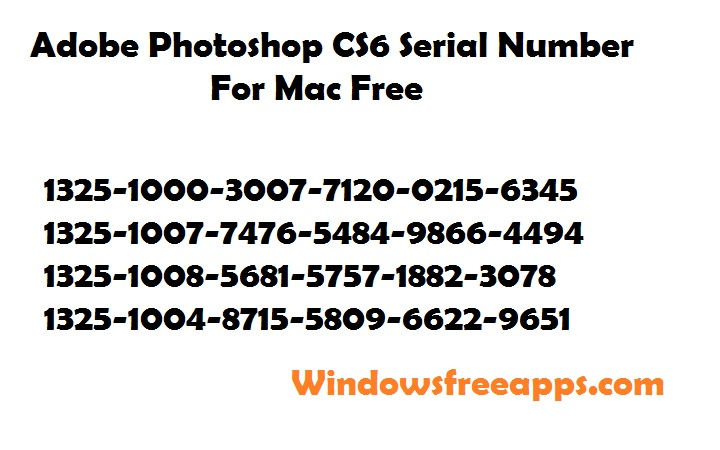 number serial photoshop cs6