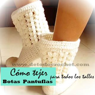 Botas de descanso pantuflas para todos los talles tutorial