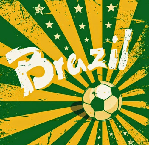 Sunburst Vector Brazil 2014 World Cup