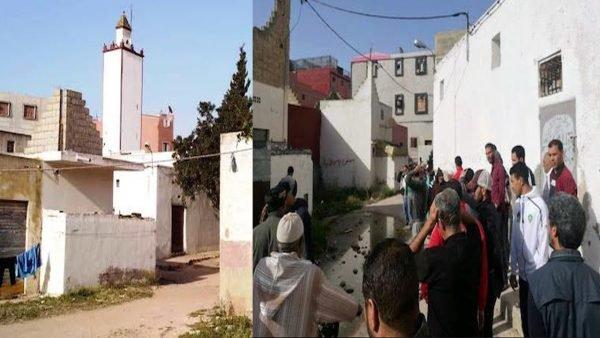 مياه عادمة تحاصر مسجد بآسفي وتخرج مواطنين للاحتجاج