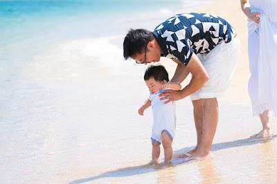 家族旅行 沖縄 写真