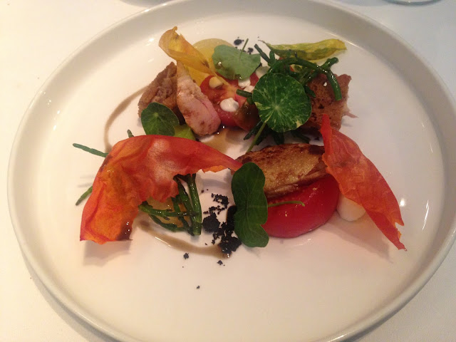 Quail - heritage tomatoes, samphire and hazelnut