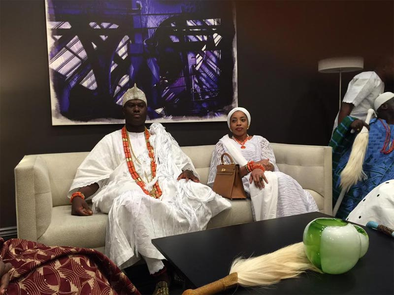 Ooni of Ife presented the key of the city of Newark