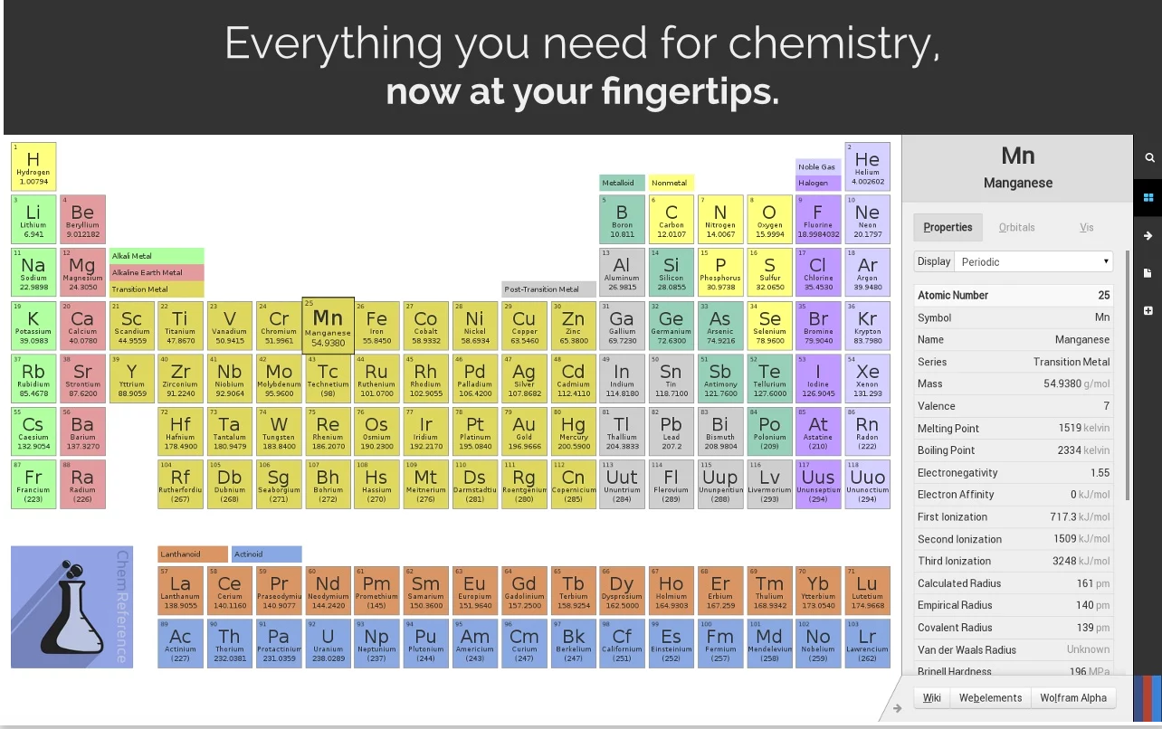 3 handy periodic tables for science teachers educational chemreference is a detailed and powerful periodic table of the elements and chemistry reference tool designed with a fast workflow in mind urtaz Choice Image