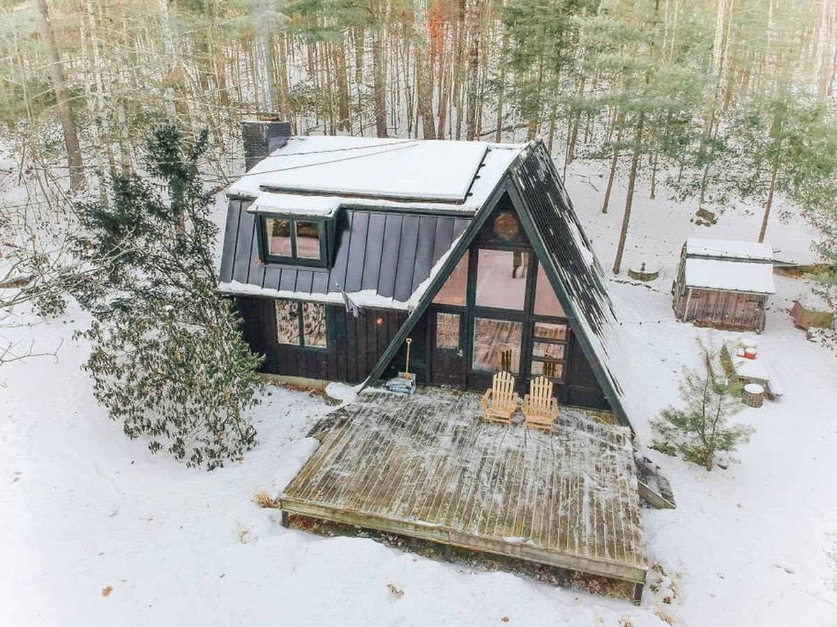 15-Aerial-View-Jeremy-Sustainable-Catskills-A-Frame-House-Airbnb-www-designstack-co
