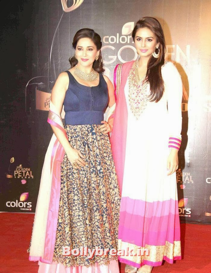 Madhuri Dixit, Huma Qureshi, Colors Golden Petal Awards Dec 2013 Photos