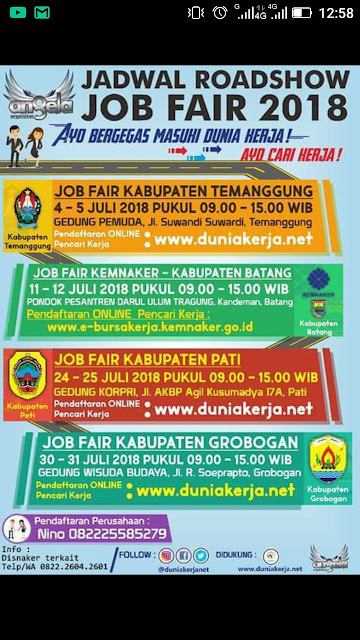 Jadwal Roadshow Job Fair 2018
