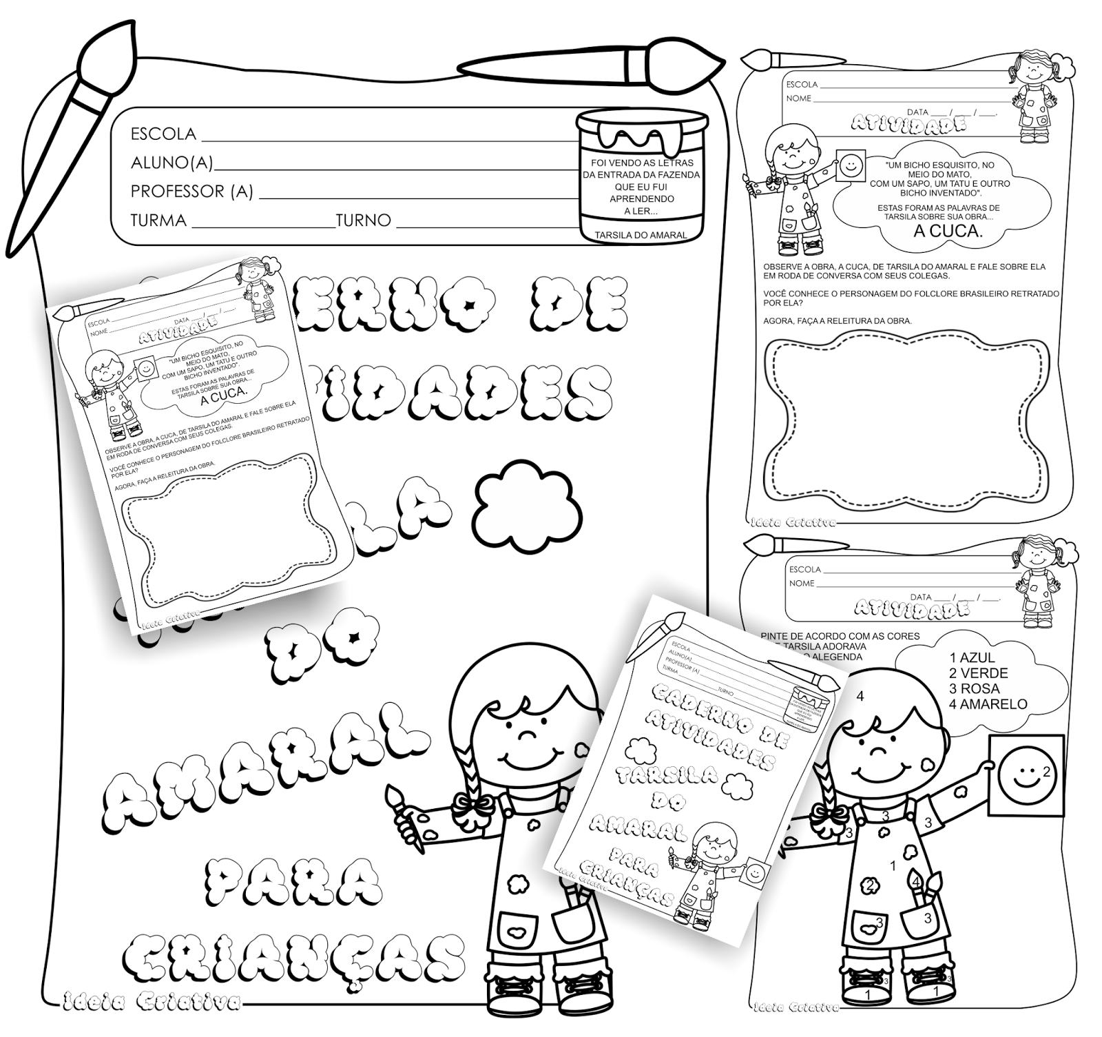 Caderno de Atividades Tarsila do Amaral para Crianças