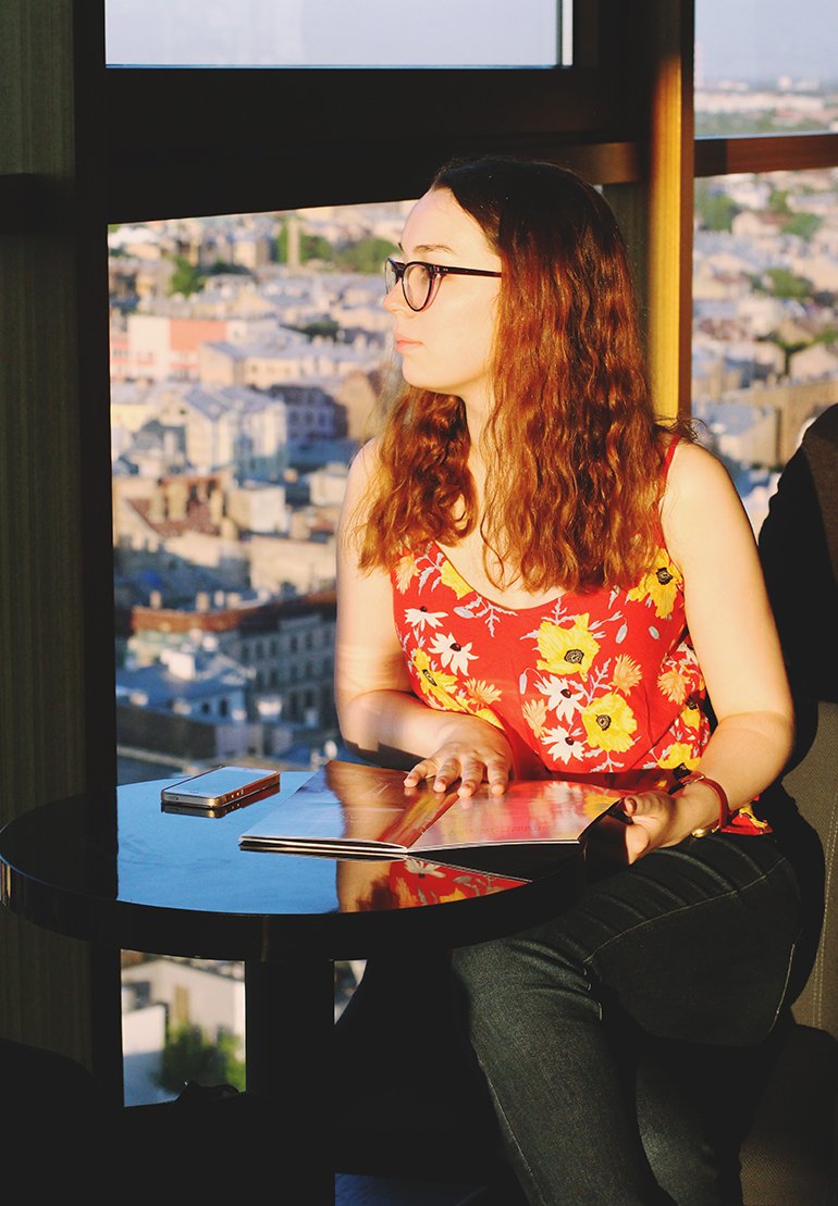 Hayley at Sky Bar
