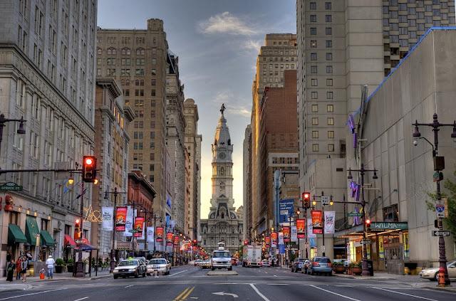 Ficar no centro da Filadélfia