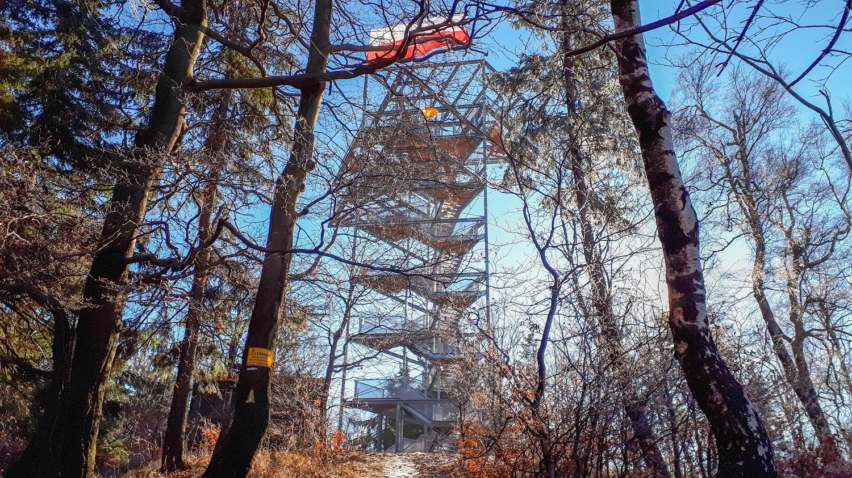 Sudety Trójgarb Wieża widokowa