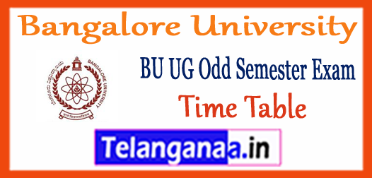 Bangalore university 1st 3rd 5th Semester BA B.Sc B.Com Time Table 2017