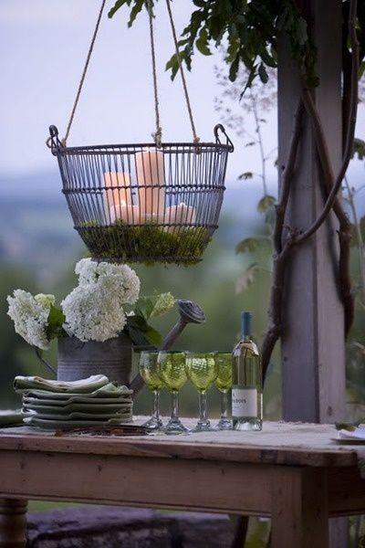 decoración velas vintage