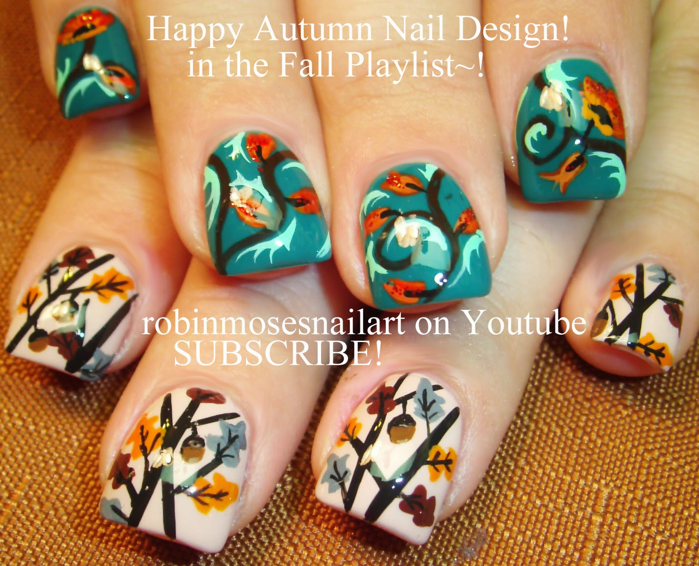 Robin Moses Nail Art Quot Fall Leaves Quot Quot Fall Nail Art Quot Quot Fall