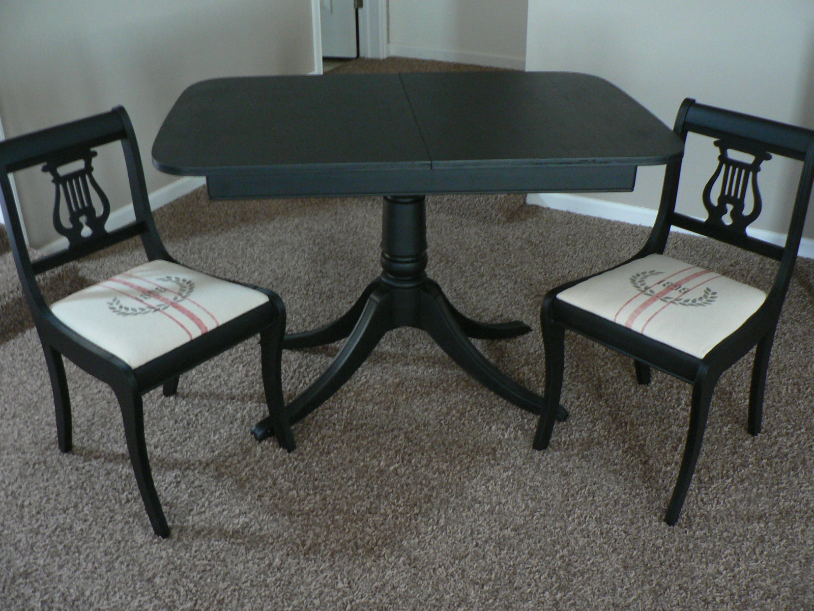 Lyre Back Chairs For The Love Of It Duncan Phyfe Table And Lyre Back Chairs