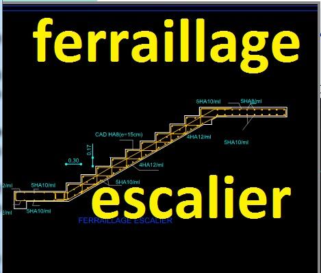 Hervorragend ferraillage escalier dwg autocad   Outils, livres, exercices et vidéos GY69
