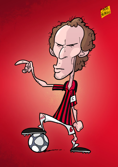 Franco Baresi cartoon caricature