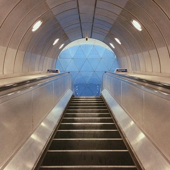 escalator, London Underground