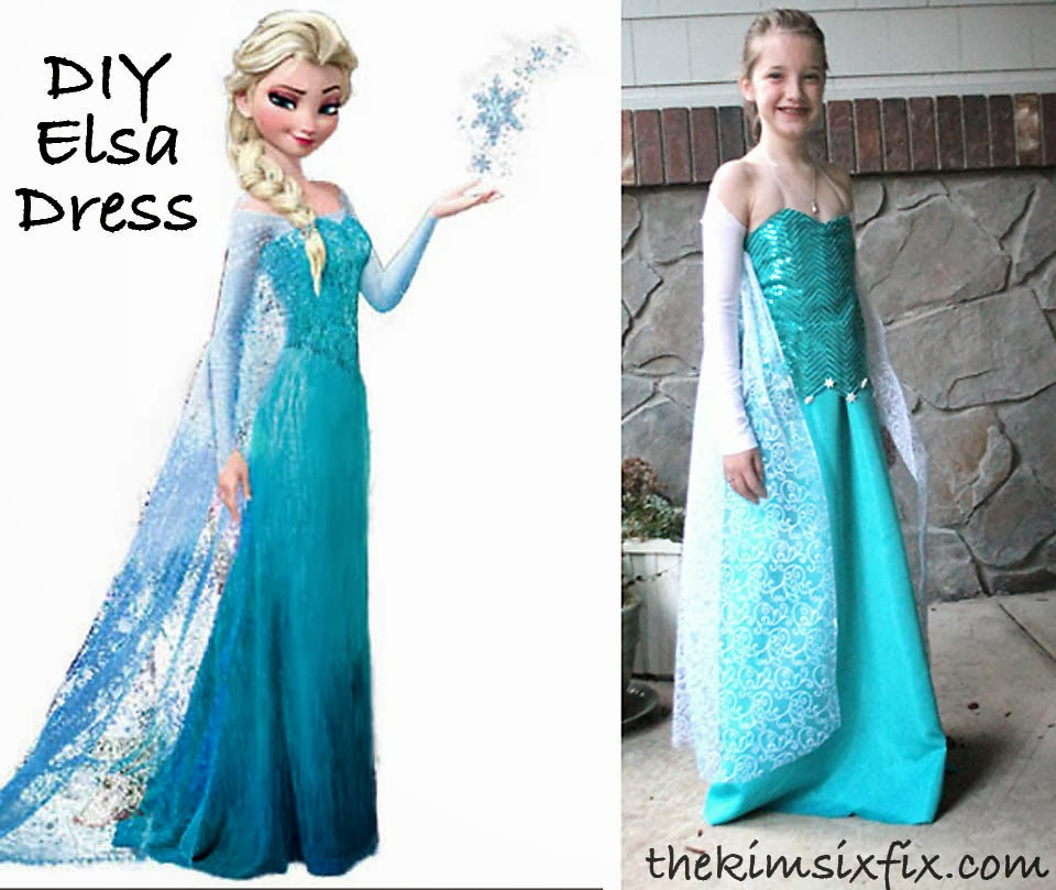 March 2014 the kim six fix diy elsa dress from frozen solutioingenieria Choice Image