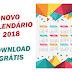 Calendário 2018 em Corel Draw