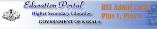 Kerala HSE 12th Class Admit Cards 2017