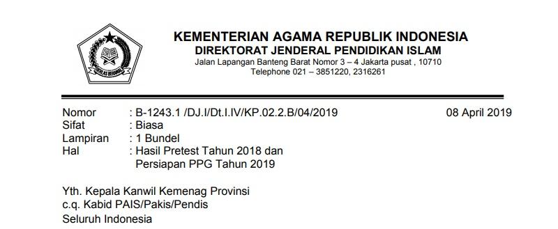 Passing Grade PPG Kemenag 2019