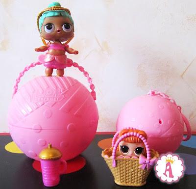 Обзор игрушек ЛОЛ Сюрприз куклы шары (младшая сестричка и старшая девушка)