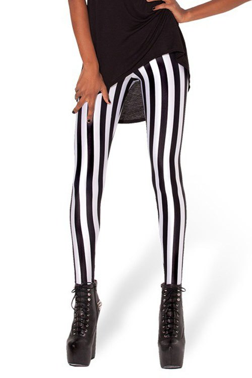 Vertical stripped leggings