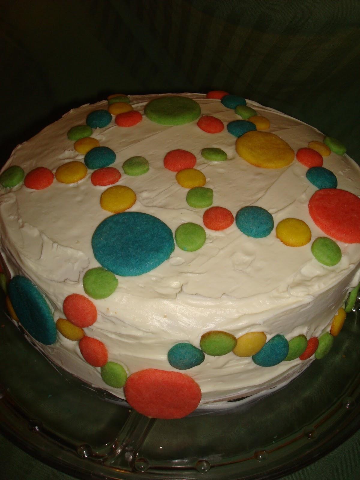 Raindbow Icing Cake