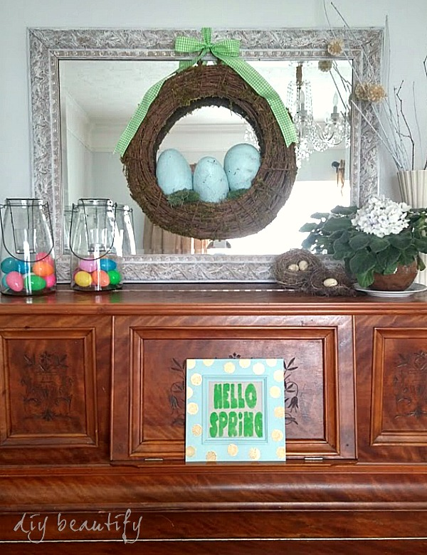 Hello Spring sign tutorial | DIY beautify