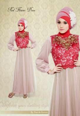 Gaun pesta muslim terbaru model dress modis