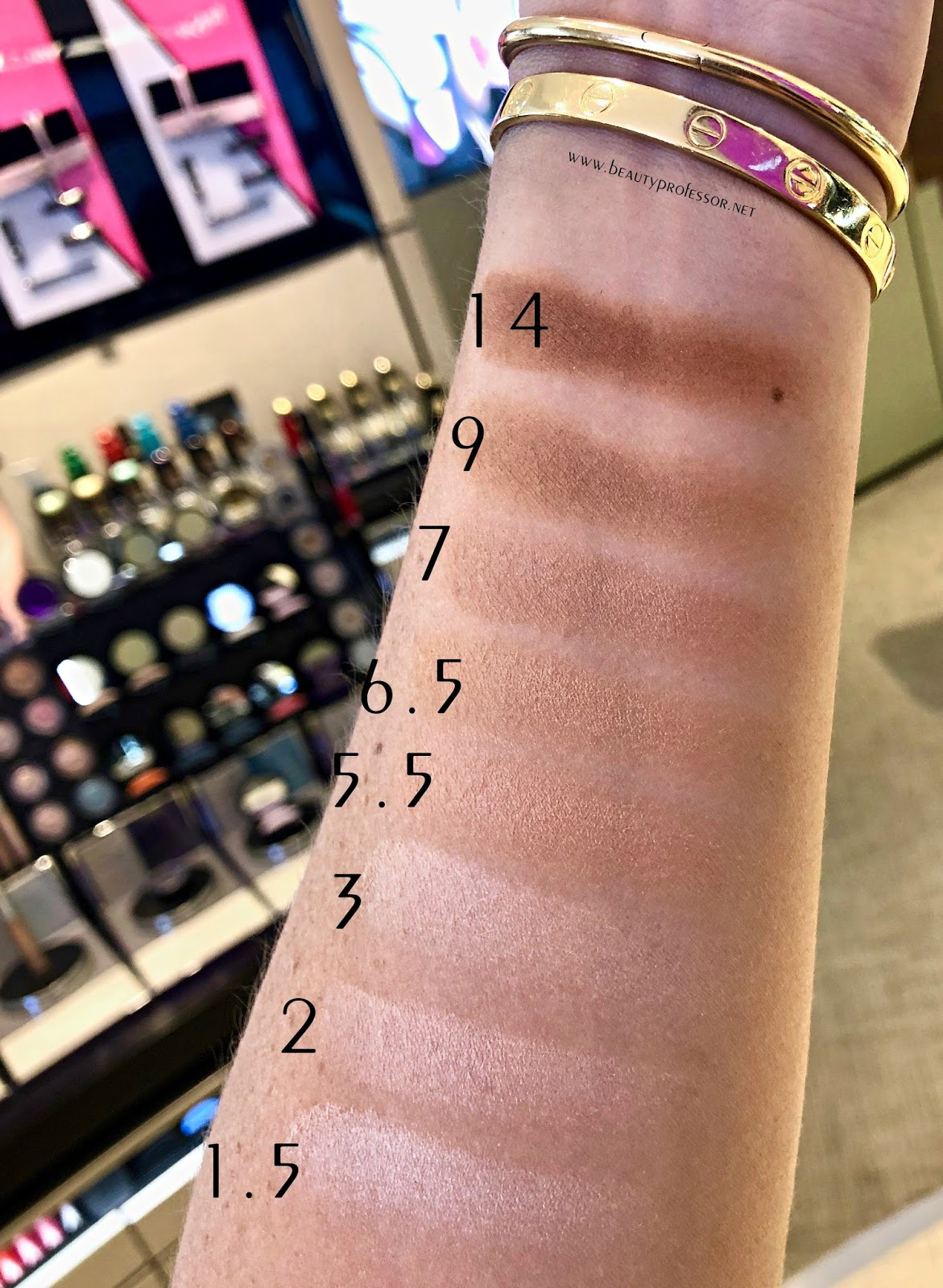 armani neo nude powder foundation swatches