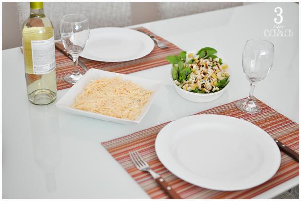 mesa posta almoço de domingo