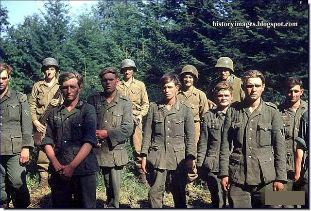 German soldiers prisoner Americans ​​Saint-Denis-le-Gast