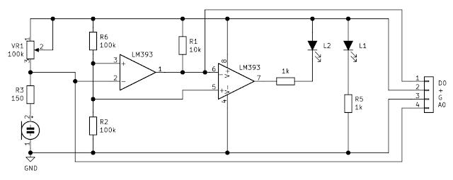Schemă modul senzor de sunet cu microfon