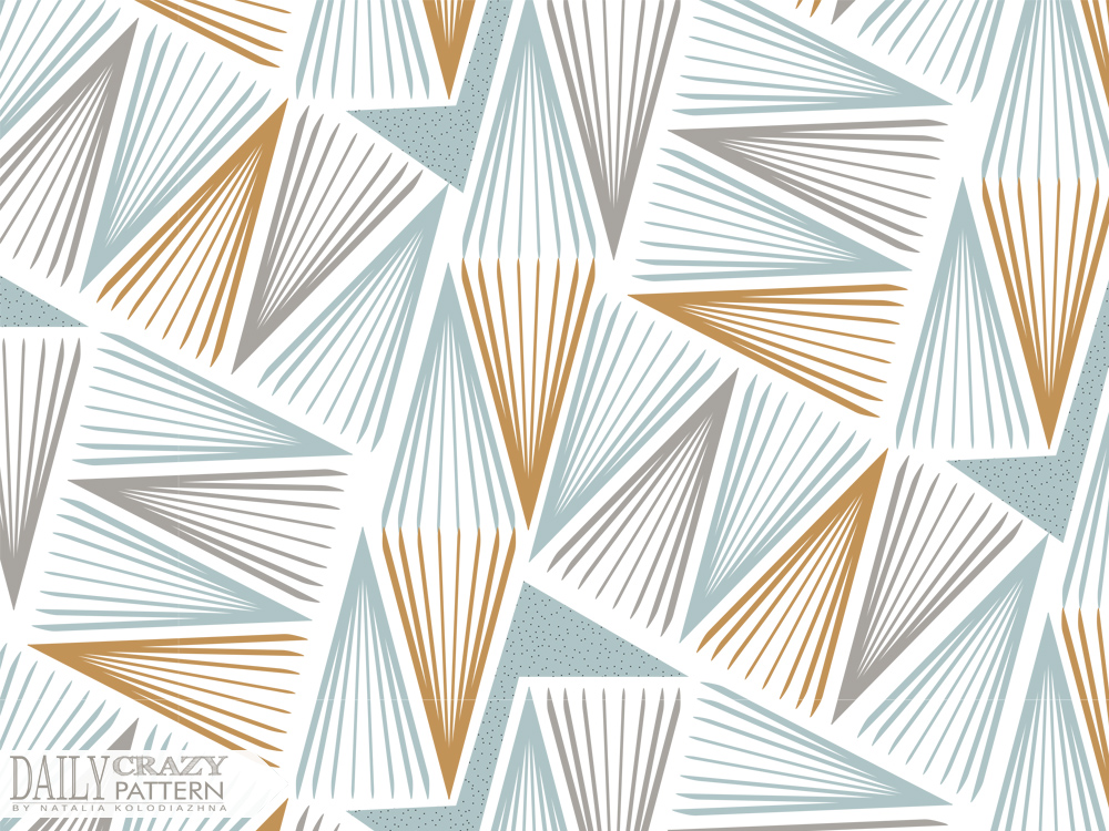 "Geometric pattern with lines for ""Daily Crazy Pattern"" project"
