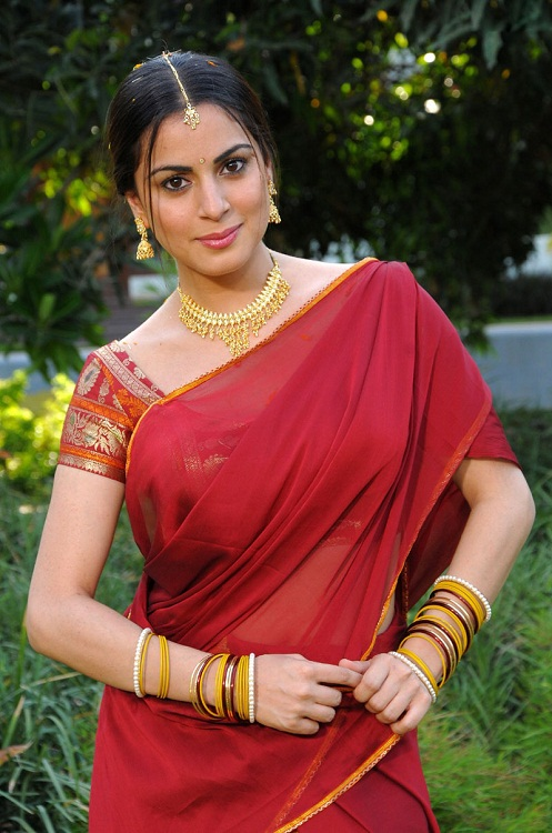 Shraddha Arya Looks Hot in Saree