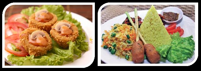 menu resto vegetarian