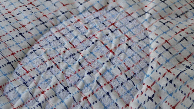 Project Quilting military boot print whole cloth quilt by Slice of Pi Quilts