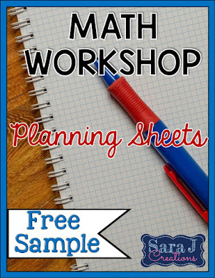 Free planning sheet to help you get started with math workshop in the elementary classroom.