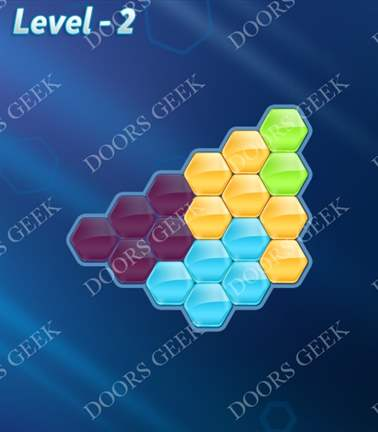 Block! Hexa Puzzle [Rainbow A] Level 2 Solution, Cheats, Walkthrough for android, iphone, ipad, ipod