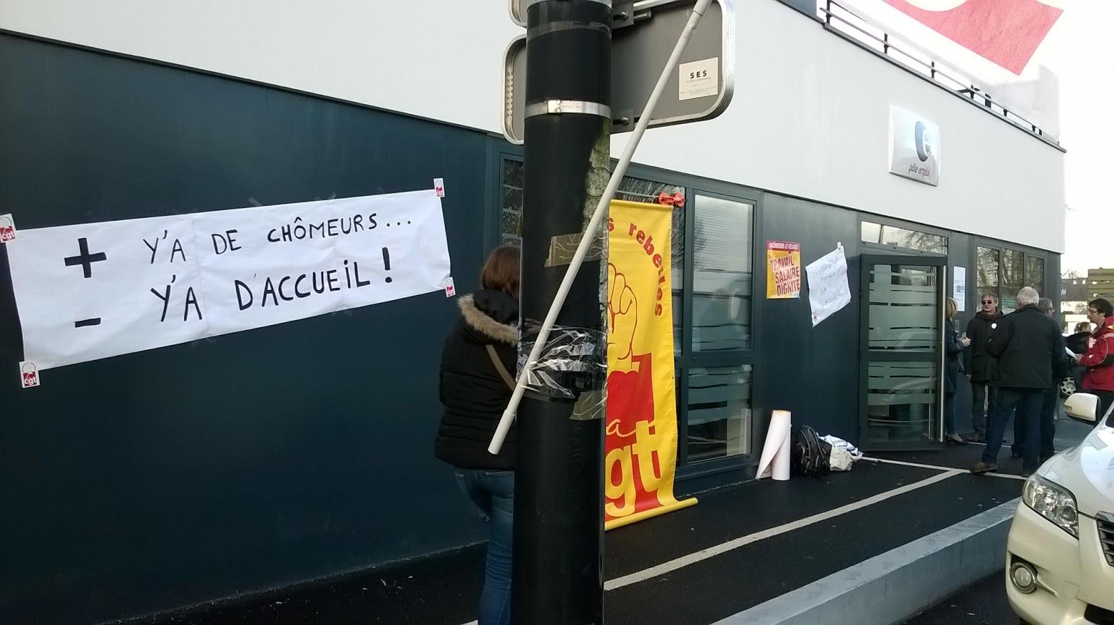 fe525d50378 Nous nous sommes mobilisés ce jour pour dénoncer la fermeture des agences  Pôle emploi l après-midi